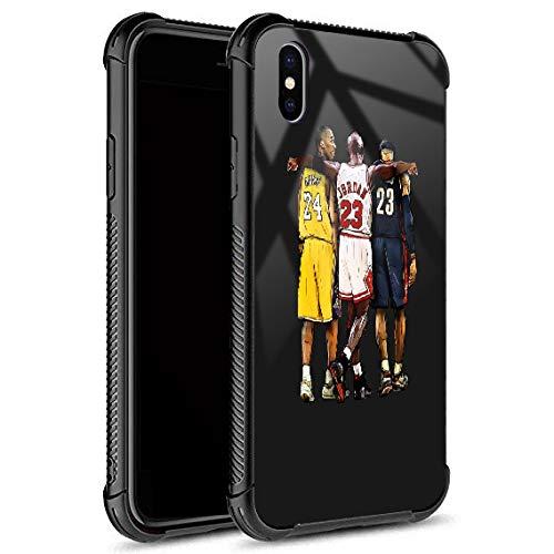 iPhone Xs Max Hülle, Basketball-290 Muster gehärtetes Glas Abdeckung für Mädchen Männer Jungen [kratzfest] Fashion Pattern Design Cover Hülle für iPhone Xs Max (6,5 Zoll)