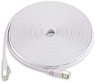 Computer Cables & Connectors - 1m 5m 15m 30m White Ethernet Cable Cat 7 Cat7 Flat Network Patch Cable RJ45 SSTP Lan Cable ...