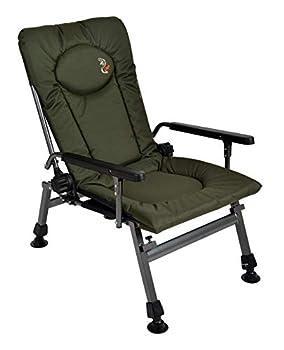 Carp Chaise de pêche F5R - Chaise de camping de luxe pour la pêche à la carpe - Avec hauteur supplémentaire