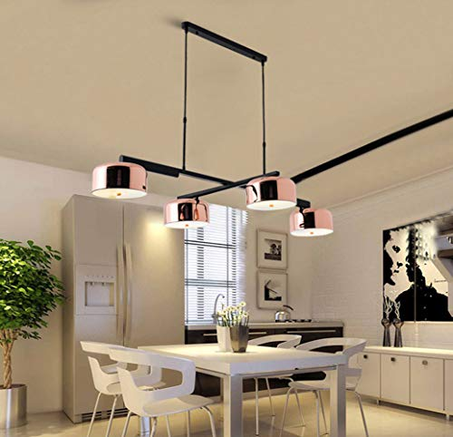 HIL Postmodernen Restaurant Dreht 4 Kronleuchter, Einfache Und Stilvolle Persönlichkeit Bartheke Wohnzimmerlampe Industrie Windrose Gold Lampe,Warmlight
