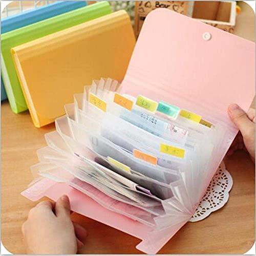 1 pc niewielki rozmiar 17.8 * 11.5 * 2.5 cm Cukierki Color DBAG Folder Plik Rozszerzający folder Wallet Bill, Zielony Półka (Color : Green)