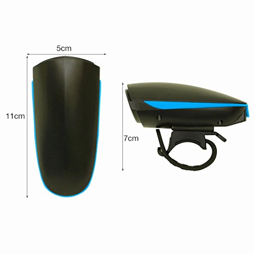 Agapo Fahrradhorn Fahrradhupe Fahrradklingel mit 2 Tönen bis zu 140 dB Wiederaufladbare USB Kabel - 6