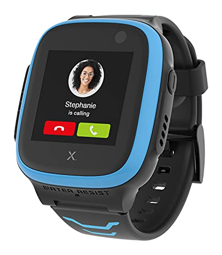XPLORA X5 Play - Watch Phone for Children (SIM Free) 4G - Calls, Messages, Kids School Mode, SOS Function, GPS Location, Camera and Pedometer (Blue)