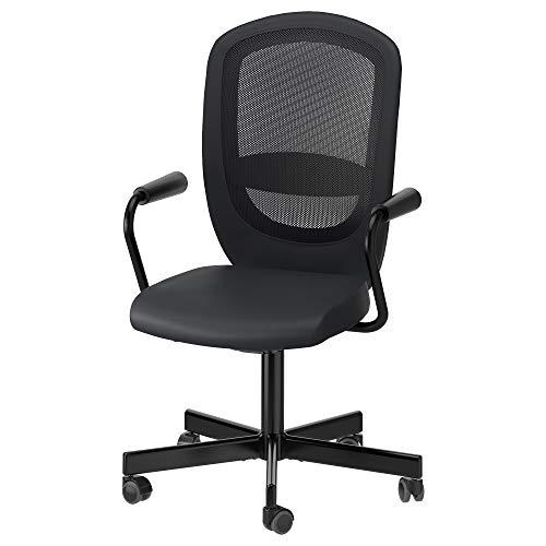 IKEA Flintan/Nominell 992.081.95 - Silla giratoria con reposabrazos, color negro