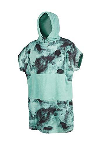 Mystic Allover Poncho oder Wickeltuch für Strand Wassersport & Surfen - Robe wechseln - Black Mint - Unisex