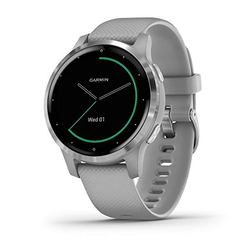 Garmin vívoactive 4S - Smart watch with GPS and health control functions throughout the day, gray