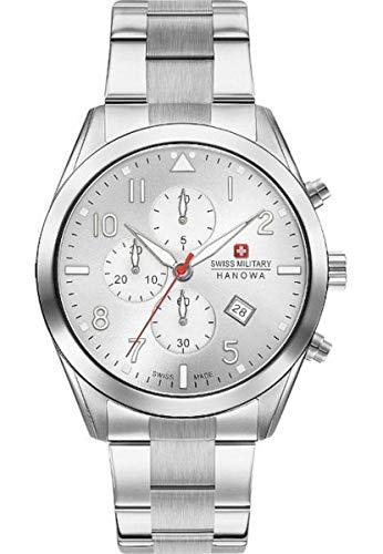 Swiss Military Hanowa Reloj Analógico para Unisex Adultos de Cuarzo con Correa en Acero Inoxidable 06-5316.04.001