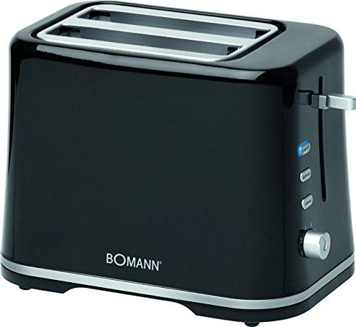 Bomann TA 1577 CB Toastautomat, schwarz/silber