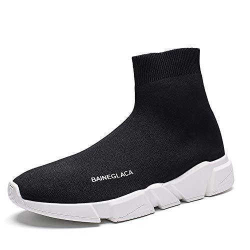 Hommes Femmes l'hiver Neige La Mode Baskets Poids léger Chaud Doublé de Fourrure Casual Athlétique Chaussures de Course Tricoté Chaussettes Chaussures