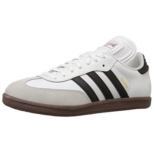 adidas Men's Samba Classic Running Shoe, white/black/white, 11.5 M US