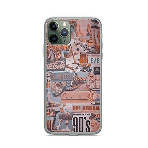 Phone Case Aesthetic Retro Collage Compatible with iPhone 6 6s 7 8 X Xs Xr 11 12 Pro Max Mini Se 2020 Shock Shockproof Charm