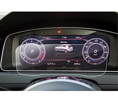 LFOTPP Golf 7 Facelift R GTD GTI GTE Golf Variant 12,3 Zoll Instrumententafel Schutzfolie - 9H Kratzfest Anti-Fingerprint Panzerglas Displayschutzfolie