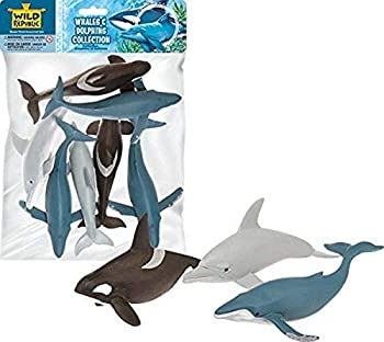 Wild Republic 83783 Polybag Whales and Dolphins Humpback Whale Orca  Dolphins Kids Gifts 7 - Pieces