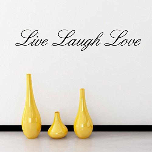 Preisvergleich Produktbild Asenart Live Laugh Love Zitat Englische Wörter Wandtattoo Home Decor 10, 2 x 55, 9 cm