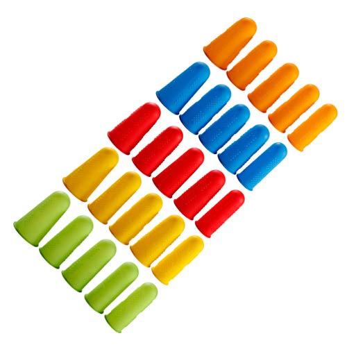 Supvox Fingerlinge Silikon Wasserdicht Rutschfest Temperaturbeständigkeit Schnittprävention 25 Stücke