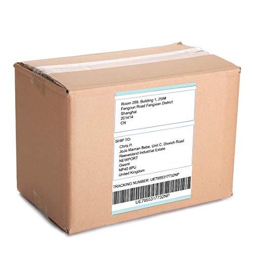 MR-Label Etiquetas multipropósito blancas impermeables y resistentes a la rotura - para exteriores   Cocina   Empresas -para inyección de tinta e impresora láser - Hoja A4 completa - 25 etiquetas