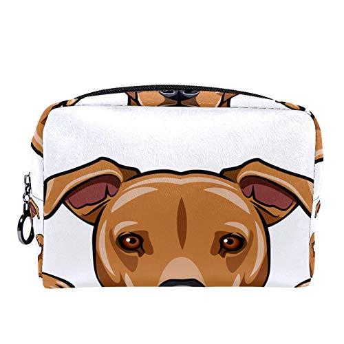 Kosmetiktasche Womens Makeup Bag Für Reisen zum Tragen von Kosmetika wechseln Sie die Schlüssel usw.,Starkes Staffordshire Terrier Hund Muskeln Bodybuilder Porträt