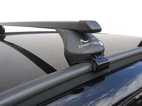 Baca barras de barra con rieles de techo a partir de Mercedes Clase C Estate 2015-