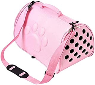 MAOSHE Pet Bag, Dogs Cat Folding Pet Carrier Cage Collapsible Puppy Crate Handbag Carrying Bags Pets Supplies Transport (C...