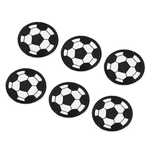 Parche bordado con forma de fútbol pegatina de tela para planchar en tela duradero para planchar tela, coser, mochilas, sombreros DIY