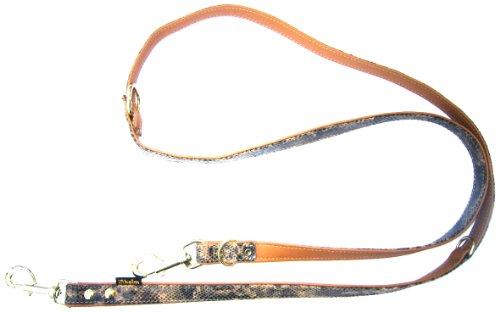 Unbekannt Heim 3769185D0M Snake Laisse pour Chien avec Motif Serpent en Relief Marron Cognac 18 mm x 200 cm