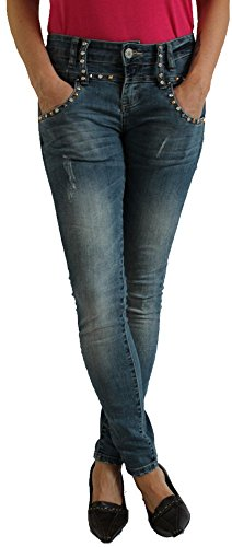 Blue Monkey Damen Jeans - Eve 3636 - Skinny