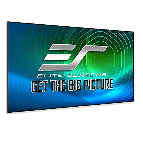 Elite Screens Aeon CLR Series, 100-inch 16:9, Edge Free Ambient Light Rejecting Fixed Frame Projector Screen, Ceiling Light Rejecting Projection...