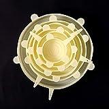 6 unids/set cubierta de silicona fresco manteniendo tapas elásticas tapas para alimentos olla plato cocina accesorios Tampa de silicona-amarillo_6pcs_