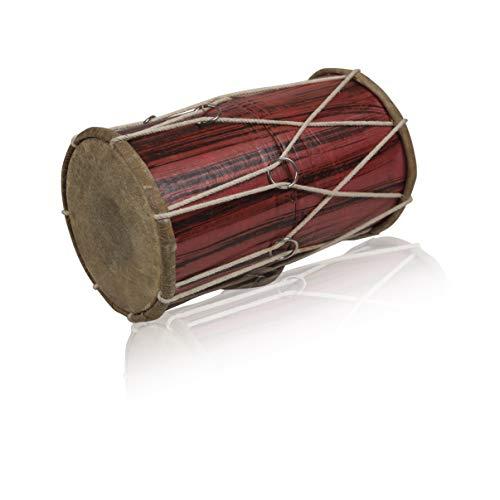 10 x 6 Inch Handmade Wooden & Leather Classical Indian Folk Tabla Drum Set Hand Percussion Drums World Musical Instruments Punjabi Dhol Dholak Dholki Fun Birthday Housewarming Gifts