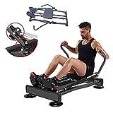 Ffitness FLMD412N Rameur Professionnel pour entraînement à la Maison, résistance hydraulique Fitness Cardio Total Body...