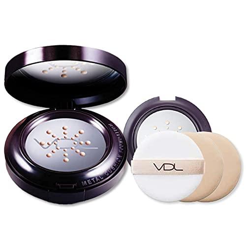 VDL(ブイディーエル) エクスパート メタル クッション ファンデーション V101 (リフィル2個・ケース・パフ3個付き) 15g×2 国内正規品