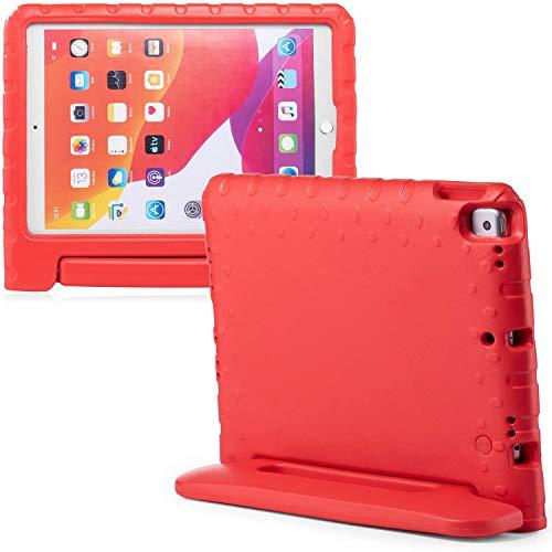 iMoshion Funda compatible con iPad 10.2 (2019), iPad 10.2 2020 – Funda para tablet infantil – Funda para tablet Kids Case en rojo con asa y soporte [resistente, antideslizante y antigolpes]