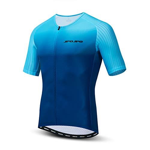 Ropa de ciclismo para hombre, ciclismo de montaña, 100% poliéster, ropa de bicicleta transpirable MTB Jersey, Jp3109, XL For Chest 43.3'