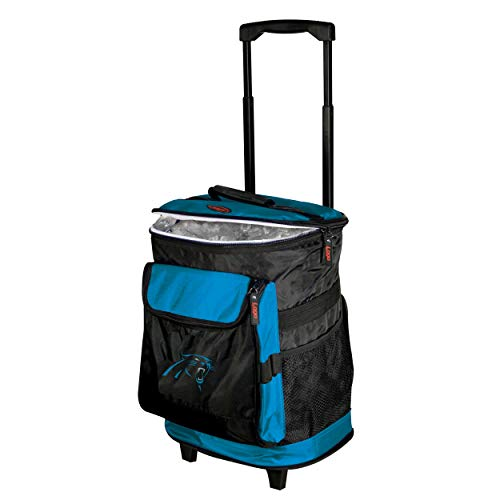 LOGOBRANDS Logo Brands Baltimore Ravens 48-Can Rolling Cooler with Wheels and Backpack Straps