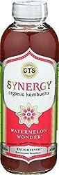 GTs Enlightened Synergy Organic and Raw Kombucha, Watermelon Wonder, 16 oz