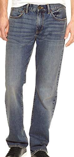 GAP Denim Mens Straight Fit Dark Indigo Blue Jeans (34x30)