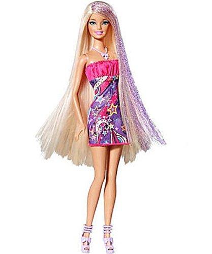 Mattel - V9519 - Barbie Glam - Cheveux longs rose/mauve