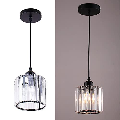 Mini lámpara colgante, candelabros de cristal, iluminación, montaje empotrado, accesorio de iluminación de techo para comedor,...