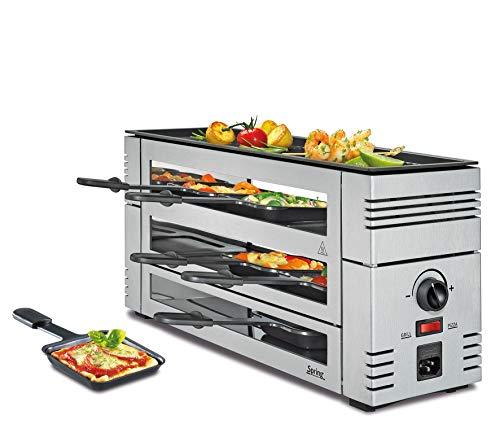 Spring Pizza Raclette 6, Silber, Alugrillplatte, 6 Personen