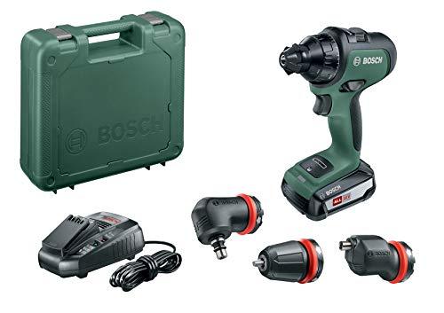 Bosch Taladro/atornillador a batería AdvancedDrill 18 Set, sistema de 18 voltios, 1 baterías, 3 accesorios, en maletín de transporte