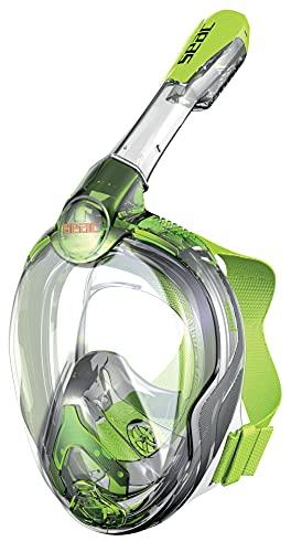 SEAC Magica Junior Schnorchelmaske 6+, getestet und patentiert, Unisex Kinder, Unisex Kinder, 1700012030426A, Grün/Limette, 6+