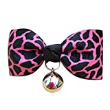 New Dog Cat Pet Bowtie Pet Bow Tie Sexy Leopard Necktie Pet Decoration Collar, Pet Accessories HotSales (Pink-S)