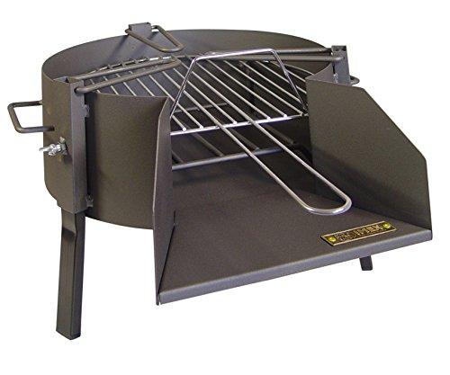 IMEX EL ZORRO 71424.0 Barbecue de Table avec Grille zinguée, Noir, 40 x 53 x 31 cm