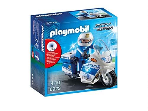 Playmobil–City Action Polizia con Moto E Luci LED, (6923)