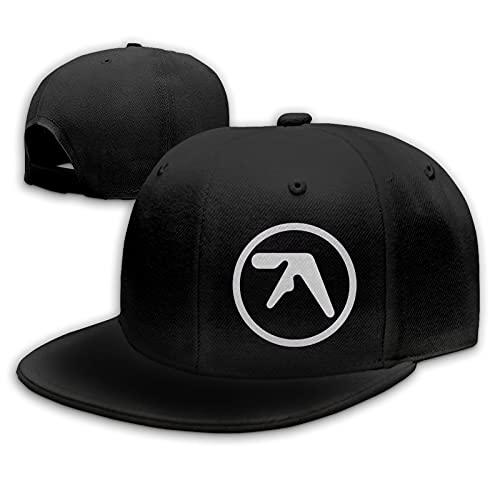 Aphex Twin Gorras de béisbol Unisex Flat Bill Sombreros para el Sol Ajustables Sombrero de Hip Hop Baseball Caps