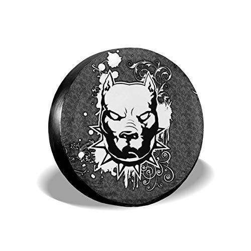 Y.Z.L. Funda para Neumáticos Cubierta para Rueda de Repuesto Protección Bolsa de Almacenamiento Pitbull 14/15/16/17inch