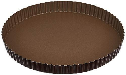 Gobel 226340 Moule à Tarte Rond Cannelé Anti-Adhérent Fond Fixe 28 cm