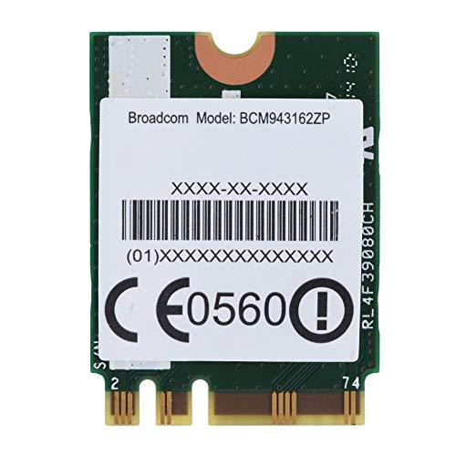 Tosuny Tarjeta WiFi inalámbrica, Tarjeta WiFi NGFF de Banda Dual 2.4G/5G, Tarjeta de Red inalámbrica de Alta Velocidad de 433Mpbs para tabletas portátiles Lenovo, Compatible con protocolo