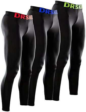 DRSKIN 3 Pack Men s Compression Pants Tights Leggings Sports Baselayer Running Workout Active product image