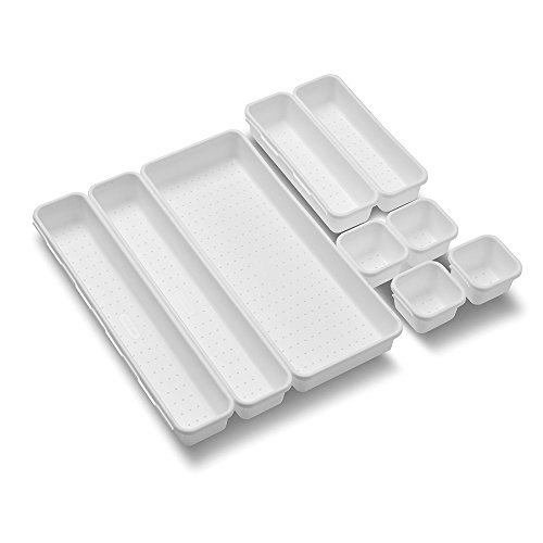 madesmart Value 9-Piece Interlocking Bin Pack   VALUE COLLECTION    Customizable Multi-Purpose Storage   Durable   Easy to Clean   BPA-Free